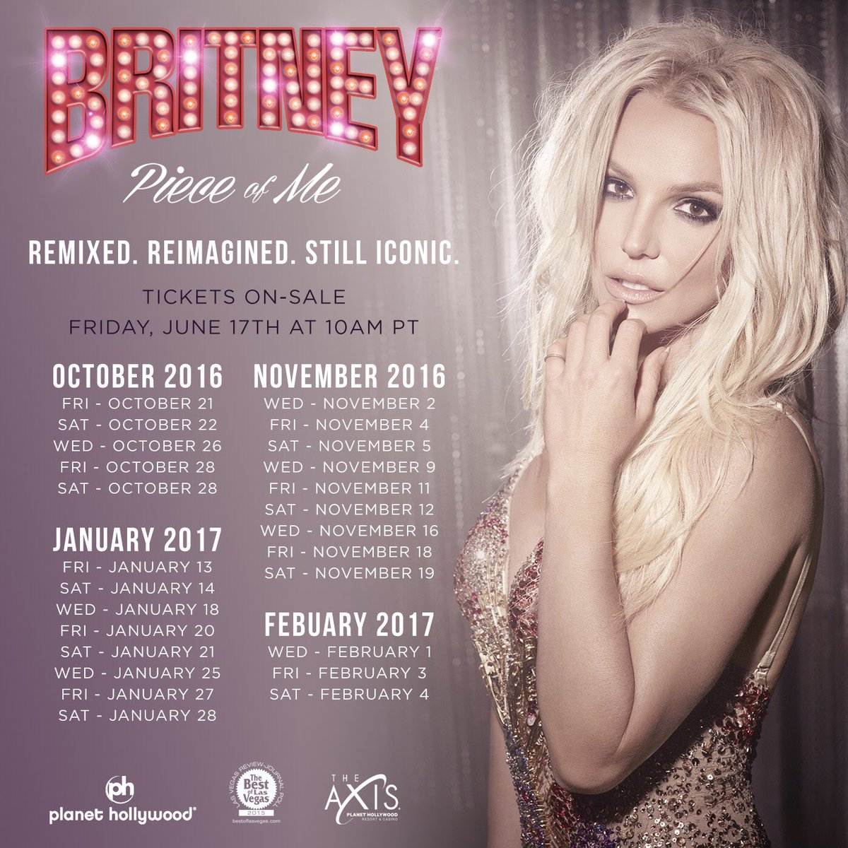 "Britney Spears' ""Piece of Me"" tour has new dates"