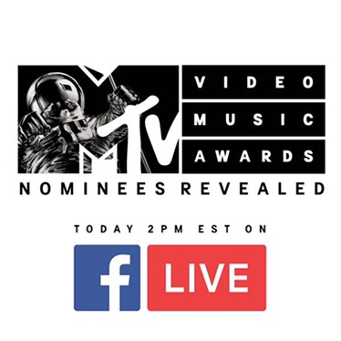 Watch #VMA Nominations Live at 2PMET!