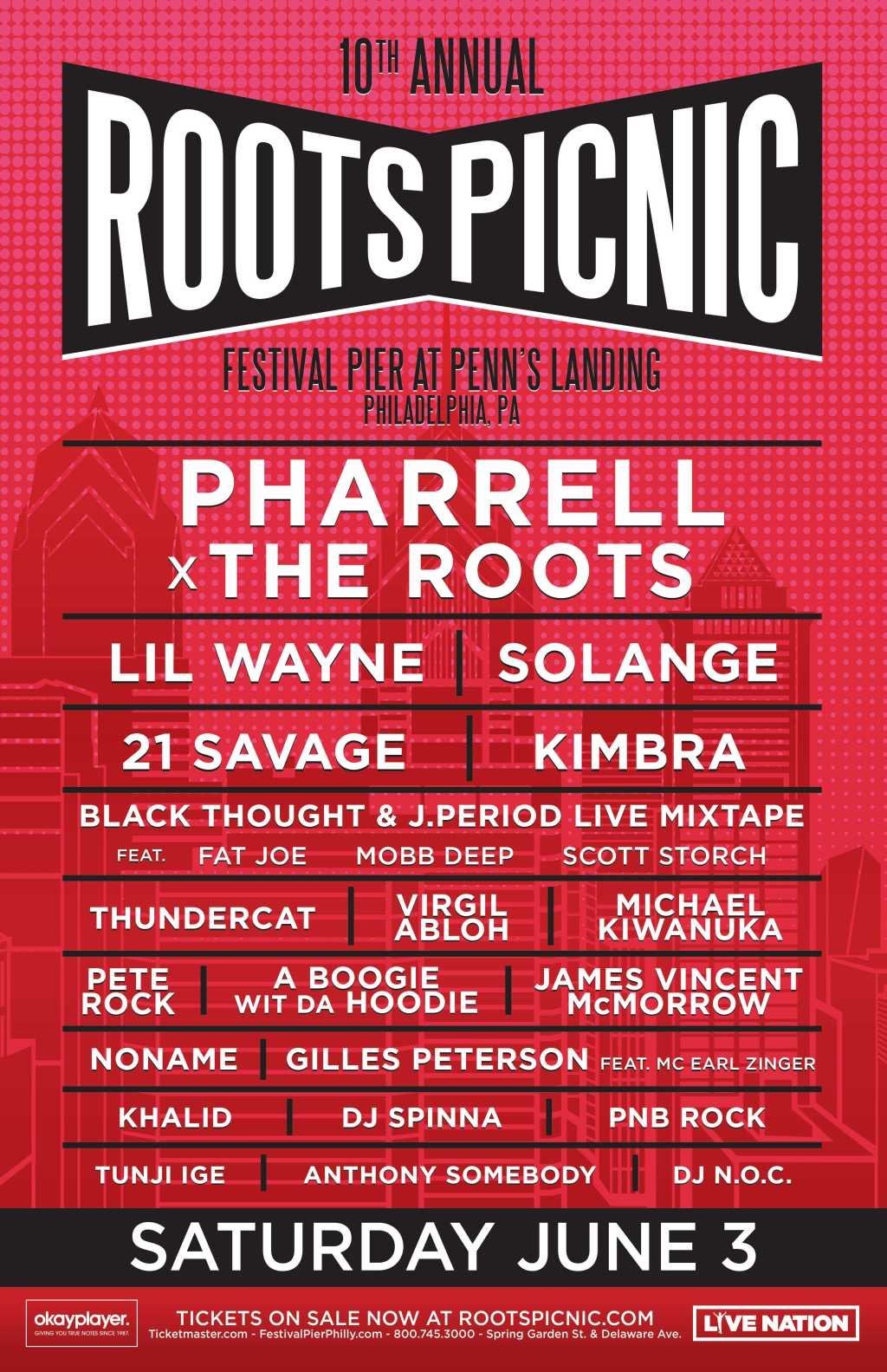 Roots Picnic Announced: Solange, Lil Wayne, Pharrell, & More